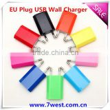 New Promotional 5V /1A Colorful EU Plug USB Wall Charger AC Adapter For Smart Mobile Phone Charger