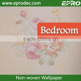 Factory non-woven material living room wall fashion wallpaper for tv backwall decoration