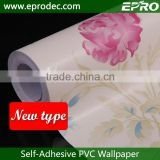 Wallcovering beautiful blue and red small flowers wallpaper sticker