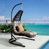 Evergreen Wicker Furniture - Outdoor Swing Chair With Bamboo Furniture
