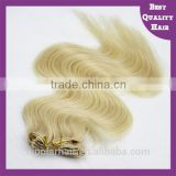 #24 Blonde 100g 7pcs Clip In Hair Extensions Free Sample curly blonde clip in human hair extensions clips