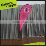 golf flag poles Teardrop Display Banners