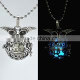 Ball Luminous locket Necklace pendant Glow In The Dark Glowstone necklace Copper Necklace pendant