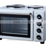 30L high-speed commercial convention white toaster oven with hotplates mechanical timer switch