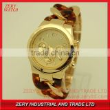 R0496 HOT SELL !!! Popular new design branded watch , 5 ATM water resistant branded imitation watch