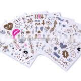 hot selling face mask temporary tattoos in different shapes