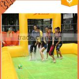 hot sale Giant inflatable football arena/inflatable water soccer field/inflatable paintball field for inflatable play equipment