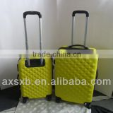 ABS 3 pcs set eminent plastic spinner computer pretty aircraft airport caster waterproof skating expandable 2 zippers case