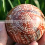 Rare Stunning LAPIS Sphere Ball /Natural Red Rock Stone Ball Wholesale/ Hot Sale Red Decorative Ball
