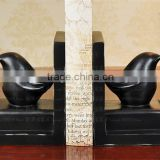 Alibaba website zhongshan factory black cute bird bookends for library and home decor