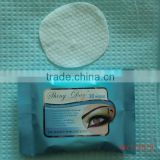 Pad Form disposable eye makeup remover, eyelid tattoo remover wipe