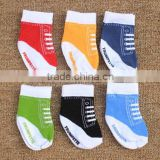 High quality baby boys kids toddlers anti-slip shoe-like socks , baby floor socks