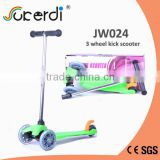 3 wheel 120/80mm plug in aluminum T bar kids kick venus scooter