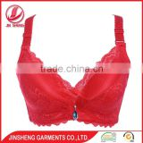 Wholesale high quality women underwear push up red color padded bra and panties set