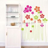Environmental 50*70 Water proof Removable Decal Decor Wall Paper Home Sticker Spring is Coming with Colorful Flowers DM57-0061