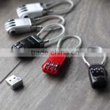 New Advertisement Product Premiums and Gift Metal Coded Lock USB 2.0 Pen Drive