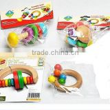 2014 hot sale wooden toys, handle bell combination