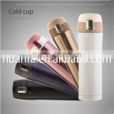 350ml/450ml Double wall stainless steel insulated thermos flask mug with plastic lid