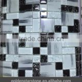 roman mosaic tile and ice crackle glass mosaic tile