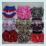Multicolor cute satin baby ruffle diaper cover bloomers wholesale baby shorts baby bloomers Toddler Girls Lovely Bloomer