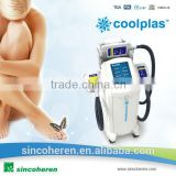 Cryo therapy treatment fat freezing Coolplas SCV-102 hand pieces working together body sculpture device