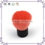 Quality hot sale red synthetic hair cosmetic makeup kabuki powder blush brush