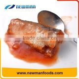 Red tomato sauce process top grade healthy canned fish canned mackerel