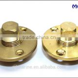 Boat Brass Garboard Drain Plug with O-Ring