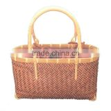 Vietnam bamboo weaving beautiful tote bags with cotton lining