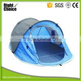 Blue/Black Color Single Layer 2 Person Instant Pop Up Tent, 2 Seconds Tent, Easy Pitch Tent