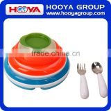6pcs Colored Eco-friendly Baby Plates and Bowls