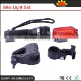 Bike Headlight LED Q5 150LM Super Bright Mini Flashlight Bailong 7 Mode Red Tail Lamp Bike Light Set