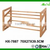 Wholesale Simple 2 Tier Outdoor Folding Bamboo Shoe Rack