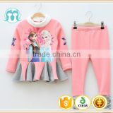 Factory direct sale woolen girl winter clothes cheap china yiwu clothing wholesale children's boutique clothing winter child set