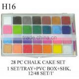 H16 28 PC CHALK CAKE SET
