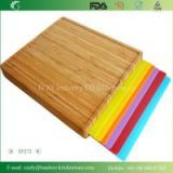 Bamboo Cutting Board with 6 PCS Removable Cutting Mats