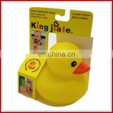 Eco yellow duck vinyl bath toy baby toys wholesale