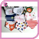 Hot selling wholesale trendy unisex soft cotton baby bandana bib