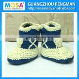 Handmade 100% Cotton Newborn Baby Boys Cowboy Boots Beige And Navy Blue Ready To Ship