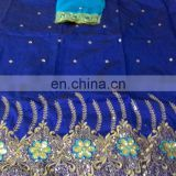 Nigerian African Dubai Indian Taffeta sequins work George wrappers with blouse