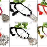 Antique Oxidized Silver Plated Tribal Jewelry Necklace -Vintage Gypsy Style Oxidized Pendant Set- navratri Traditional Set