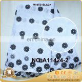 white and black heavy african voile lace fabric for men