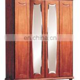 Cheap wood bedroom cabinets wardrobe closet with mirror