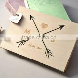 Custom Made Logo and Color Wooden Book,Wooden Autograph Album