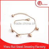 2015 New Products Gold Bell with Camellia Bracelet