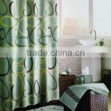 2PCS PP PRINT SOFTTEXTILE BATH MAT WITH POLYESTER PRINTING SHOWER CURTAIN AND FABRIC HOOKS