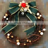 Natural Rattan Wreath With Artificial Flower and Fruits for ceiling decoration                                                                         Quality Choice