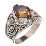 OPAL ROUGH RING ,925 sterling silver jewelry wholesale,WHOLESALE SILVER JEWELRY,SILVER EXPORTER,SILVER JEWELRY FROM INDIA