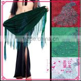 The new belly dance hip scarf, belly dance belt, fashion stone peacock triangular scarf