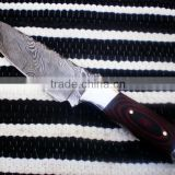 "udk h62"" custom handmade Damascus hunting knife / TANTO knife with sheet handle"